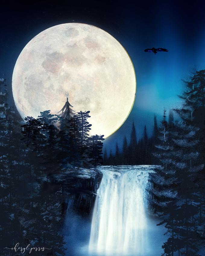 Moonlight Waterfalls