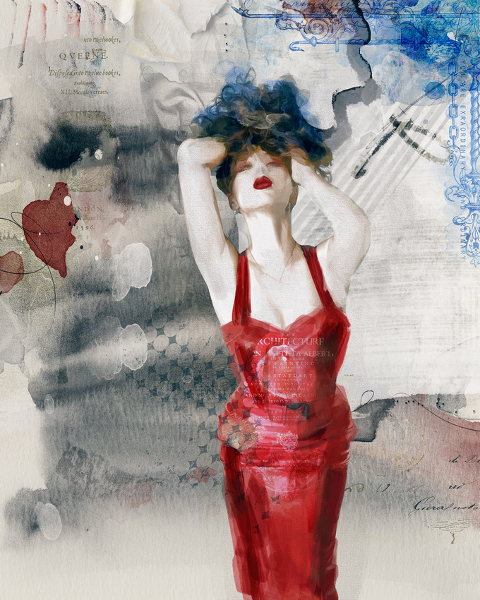 Dame en Rouge (Lady in Red)